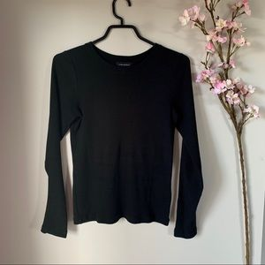 CLUB MONACO / RIBBED BLACK LONG SLEEVE XS